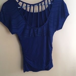 Blue Ruched Blouse